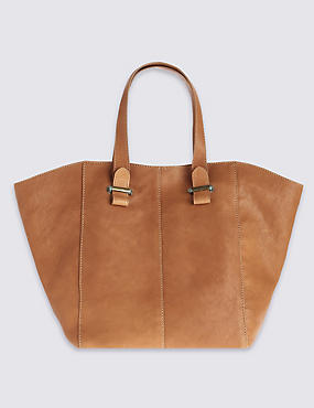 Leather Tumble Bar Shopper Bag