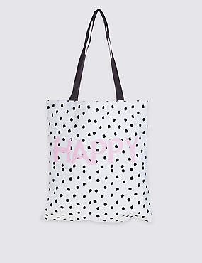 Pure Cotton Printed Canvas Shopper Bag