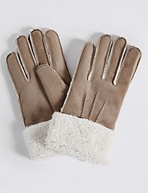 Faux Fur Shearling Gloves