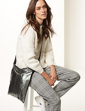 Leather Messenger Bag, , catlanding