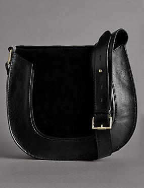 Leather Avery Saddle Shoulder Bag