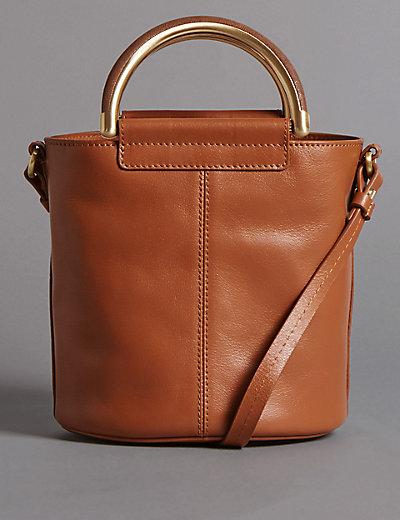pure leather shoulder bag mamps