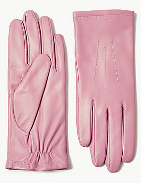 Leather Gloves, BLUSH, catlanding