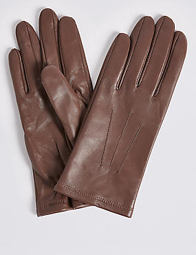 Leather Gloves, LIGHT MAUVE, catlanding