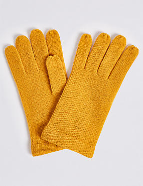 Knitted Gloves , OCHRE, catlanding
