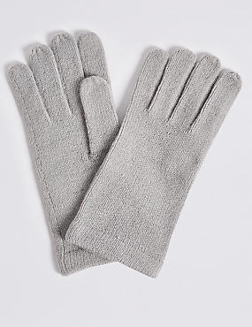 Knitted Gloves , GREY MIX, catlanding