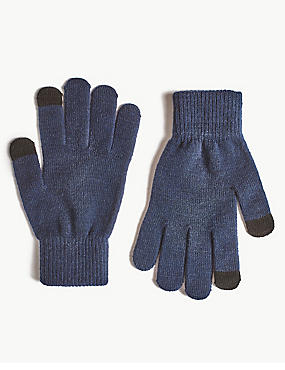Touch Screen Gloves, NAVY, catlanding