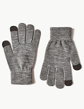 Touch Screen Gloves, GREY MIX, catlanding