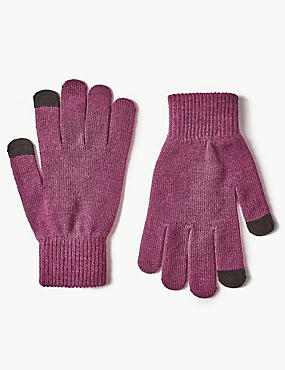 Touch Screen Gloves, BURGUNDY, catlanding