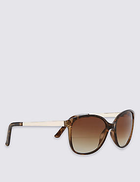 Retro Metal Arm Rectangle Sunglasses