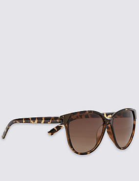Enamel Frame Cat's Eye Sunglasses