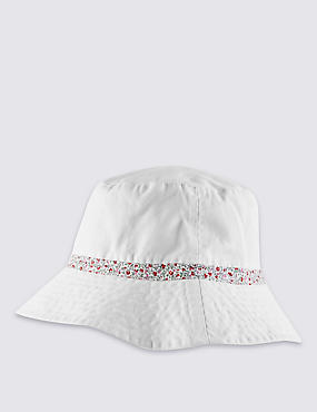 Pure Cotton Reversible Floral Trim Hat