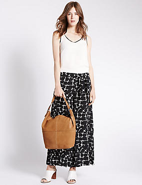 Leather Tumbled Hobo Bag