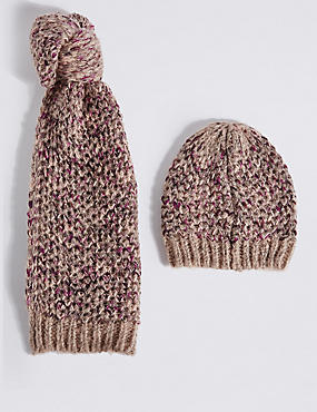 Honeycomb Scarf & Hat Set
