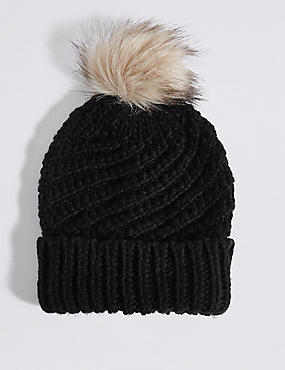 Fur Bobble Winter Hat