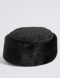Quilted Fur Hat
