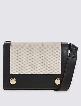 Faux Leather Stud Shoulder Bag
