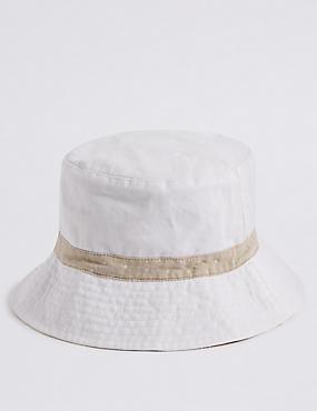 Stripe & Spot Summer Hat , NATURAL MIX, catlanding