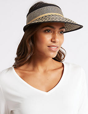 Textured Visor Sun Hat , NATURAL, catlanding