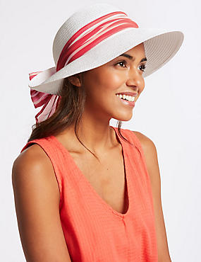 Crinkle Scarf Sun Hat, PINK MIX, catlanding