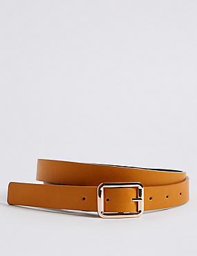 Faux Leather Reversible Jeans Hip Belt, NAVY MIX, catlanding