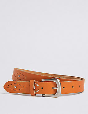 Leather Studded Hip Belt