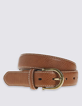 Faux Leather Casual Jeans Hip Belt