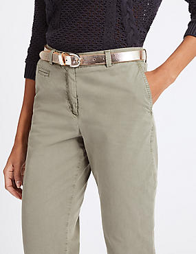 Leather Metallic Hip Belt, CHAMPAGNE, catlanding