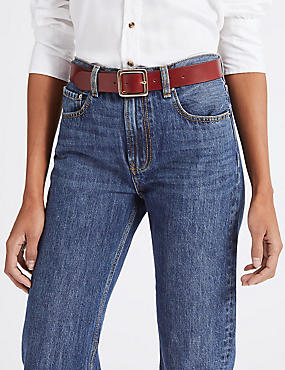 Leather Core Jeans Hip Belt, CHOCOLATE, catlanding