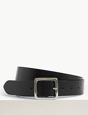Leather Core Jeans Hip Belt, BLACK, catlanding
