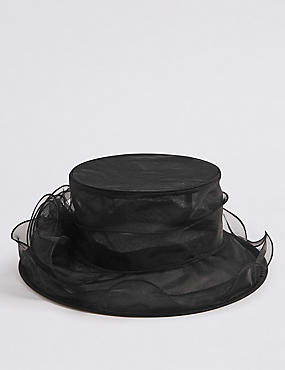 Flower Hat , BLACK, catlanding