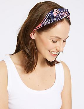 Waving Palm Headband, PINK, catlanding