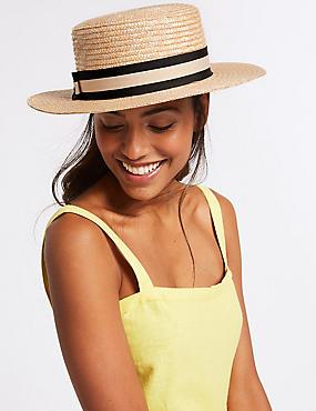 Boater Sun Hat , NATURAL, catlanding