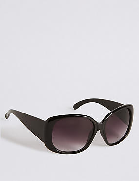 Rectangular Wrap Oversized Sunglasses