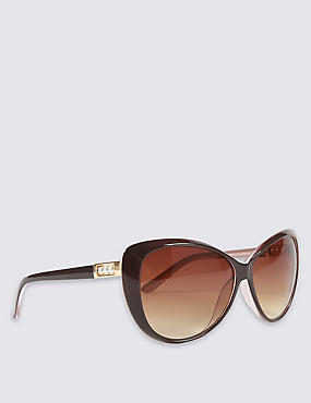 Pearl Arm Detail Oversized Sunglasses