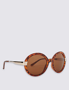 Glam Round Oversized Sunglasses