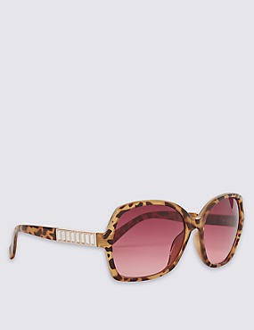 Bling Arm Oversized Sunglasses