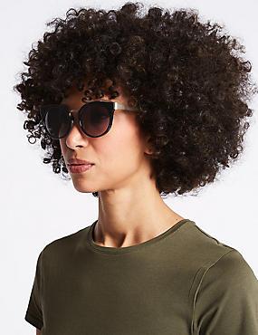 Preppy Cat Eye Sunglasses, BLACK MIX, catlanding