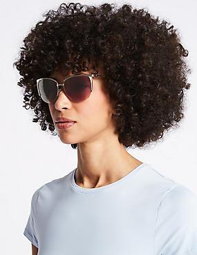 Rimless Square Sunglasses, PINK MIX, catlanding