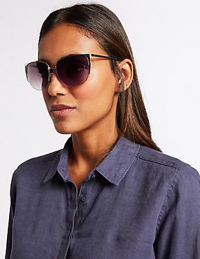 Rimless Square Sunglasses, SILVER MIX, catlanding
