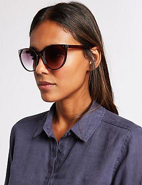 Refined Cat Eye Sunglasses, RED, catlanding