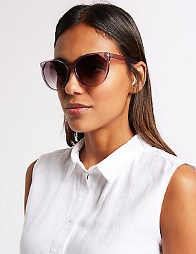 Refined Cat Eye Sunglasses, LILAC, catlanding