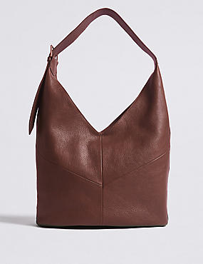 Leather Sling Hobo Bag