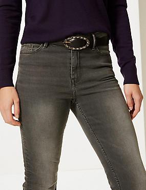 Faux Leather Jeans Hip Belt, BLACK MIX, catlanding
