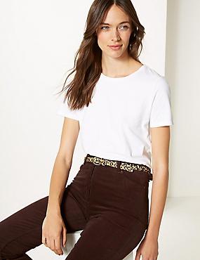 Leather Animal Print Hip Belt, BROWN MIX, catlanding