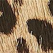 Leather Animal Print Hip Belt, BROWN MIX, swatch