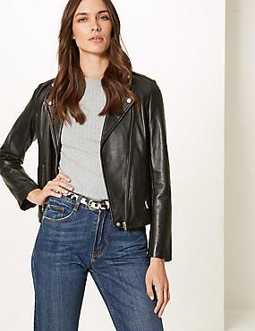 Leather Animal Print Hip Belt, BLACK MIX, catlanding
