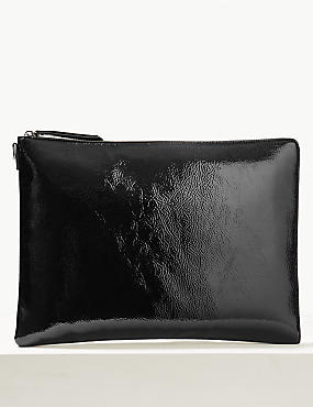 Faux Leather Clutch Purse, , catlanding