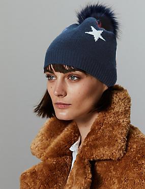 Pure Cashmere Beanie Hat, , catlanding