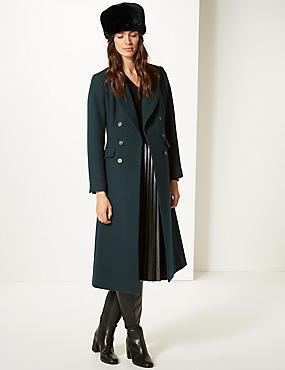 Faux Fur Beanie Hat, BLACK, catlanding